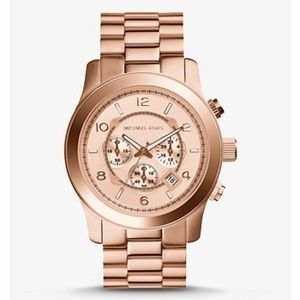 Michael Kors Rose Gold Oversized Runway Watch